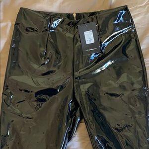 Fashion nova Black vinyl skinny pants